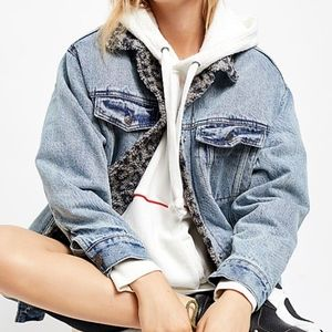 Free People Wild Ones Sherpa Trucker Jacket